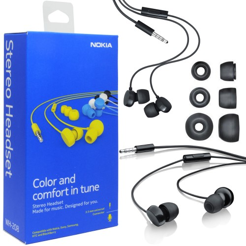 Nokia WH-208 Wired Headphones Description, Reviews, Specifications ...