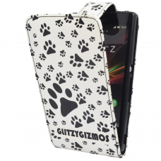 Xperia Z 'Flip' Case in Limited Edition Paw Print